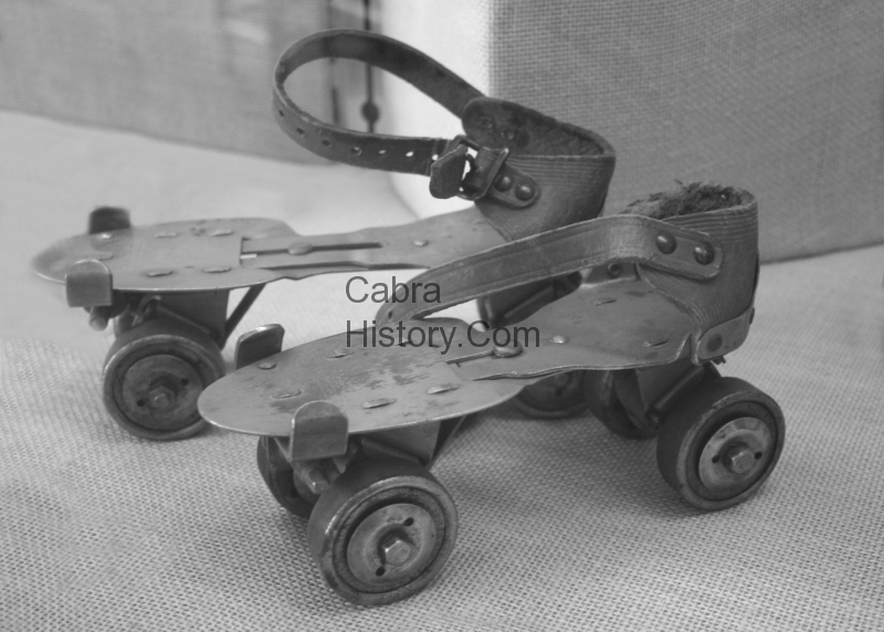 An original pair of roller skates