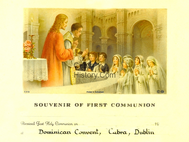 First Holy Communion Certificate for girls