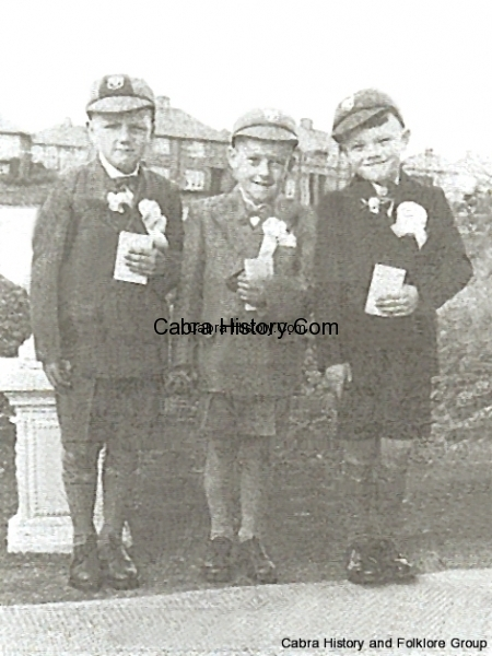 Danny Mitchell, Christie Quinn & Thomas Crawley from Killala Road 1954