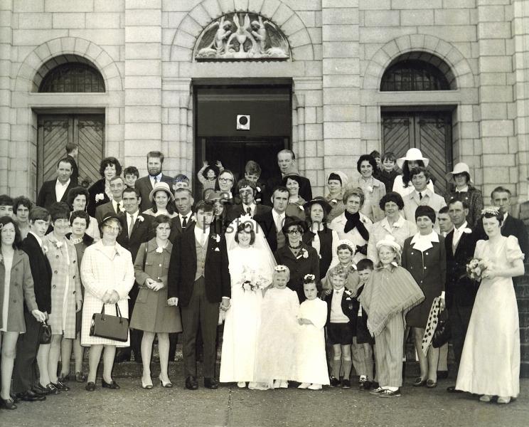 Eddie Mitchell & Anne Bergin wedding 26th Sept 1970