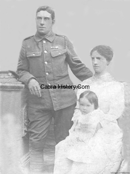Billy Coote with his wife & Child from Cabra West