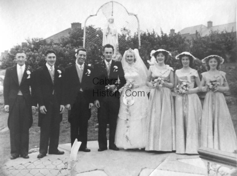 Horst & Bridie Hentschel with bestmen & bridesmaids-1957-wedding