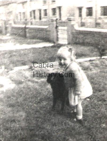 Ida O\'Callaghan with her dog Flash