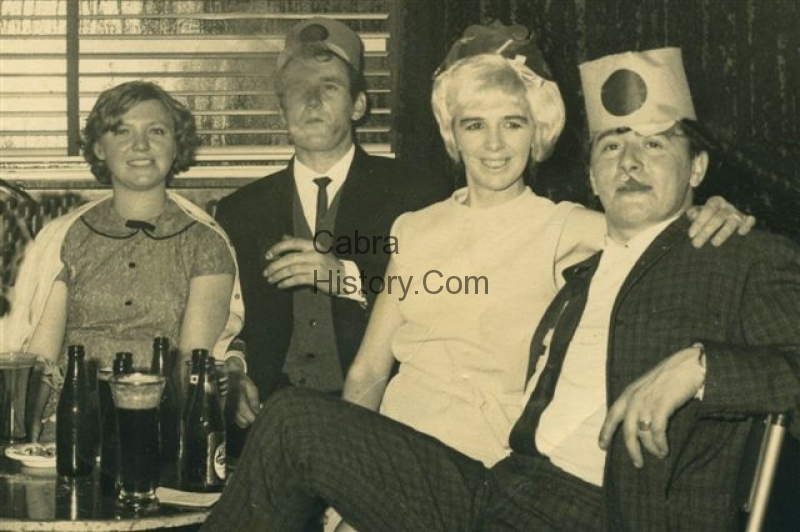 Lana O\'Brien and Paddy Phoenix with Pat Phoenix and Tommy Sheridan early 1960s