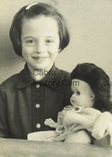 Mary Coffey & her doll in School Photo 1963