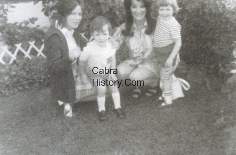 Mary Hogan with son Paul Lorraine Kelly and nephew Ian De Mange 1972