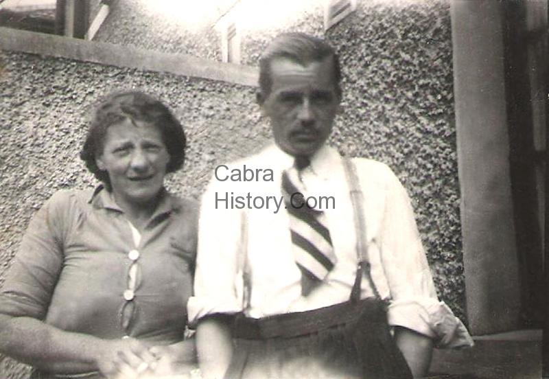 Mai O\'Callaghan and neighbour George Hapgood