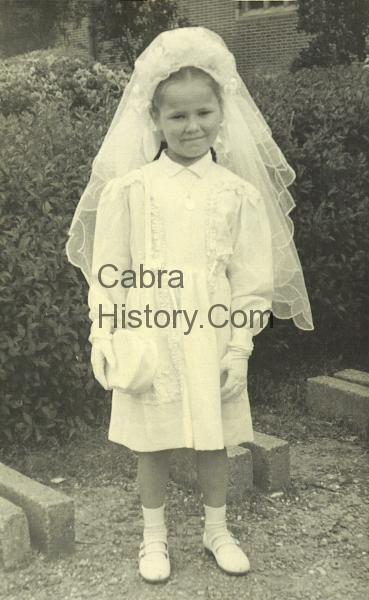 Patty O\'Neill Communion Day 1954
