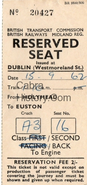 1962 Travel Ticket Home