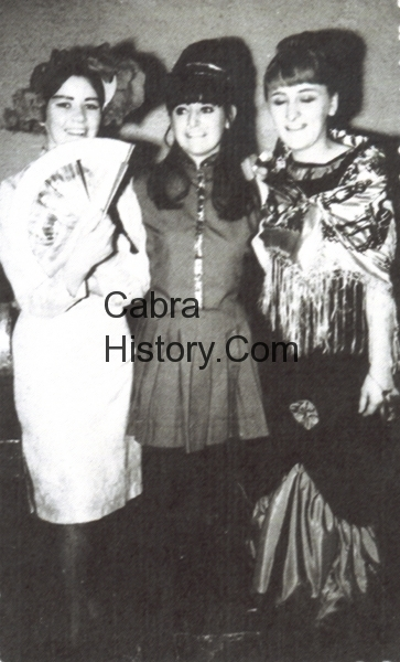 Mary Hogan Lorraine Kelly & Imelda Jenkins at the Tramps Ball 1970