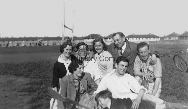May Clarke-Willie Hogan-Olive Jackson-Gerry Keogh 4 Bannow Road-Kay Lynch-Unsure-Unsure-Unsure in the Bogies