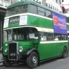 Old Green Dublin Bus