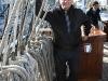 Martin Coffey on board the Gorch Fock in Dublin