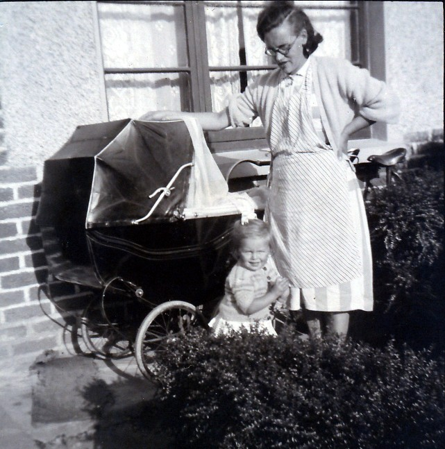 Mammy & Anne with Mary in the pram 1955 -21