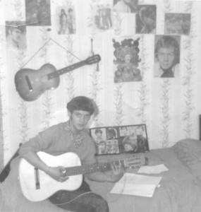 1966 Playing my guitar greyscale _2