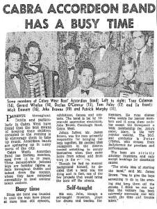 Boys Band 1962 Mar 31
