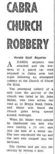 Church Robbery 1963